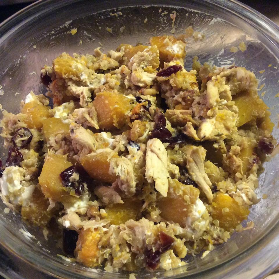 Quinoa with Butternut Squash, Chicken, and Goat Cheese Karen Shay-Kubiak