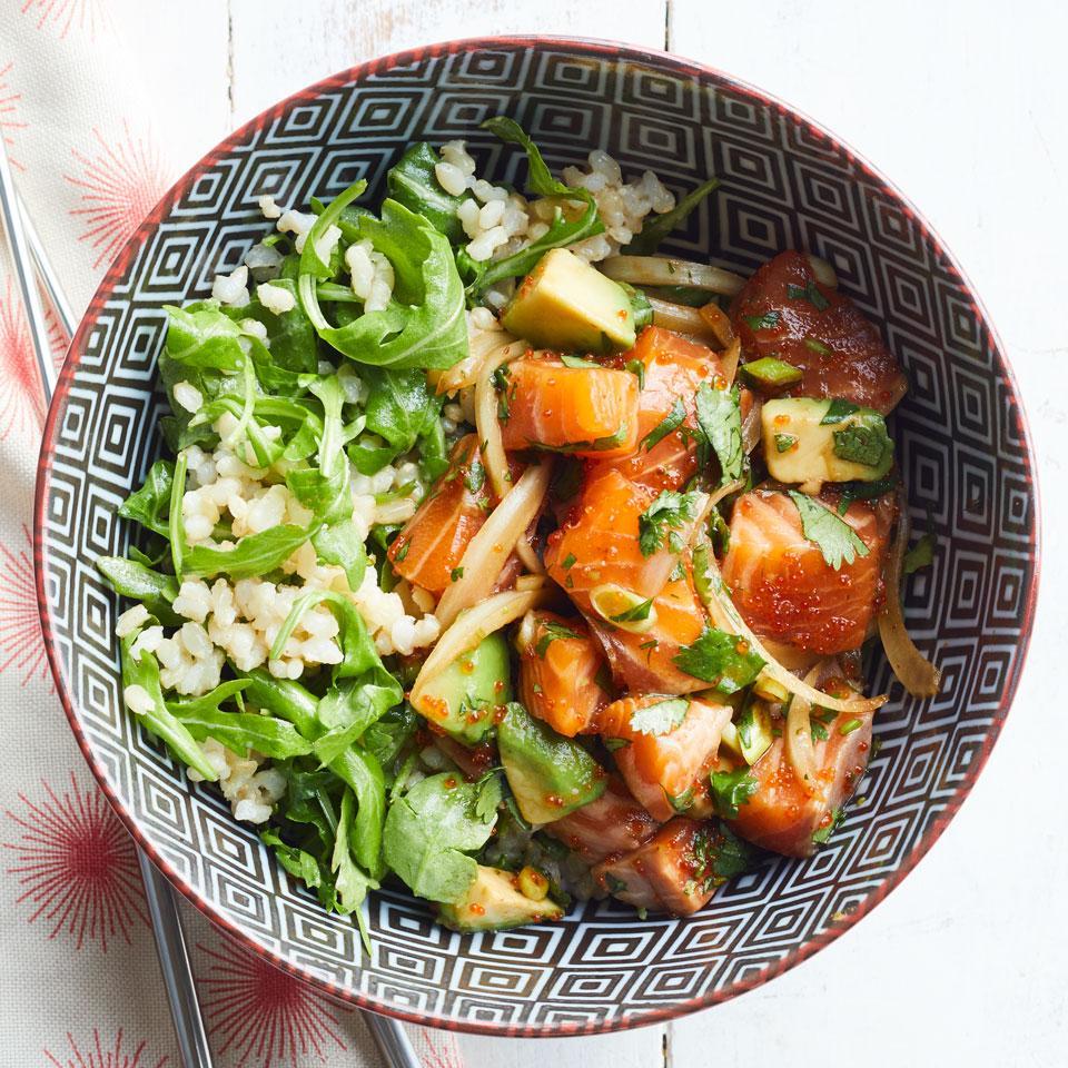 Salmon & Avocado Poke Bowl Martha Cheng