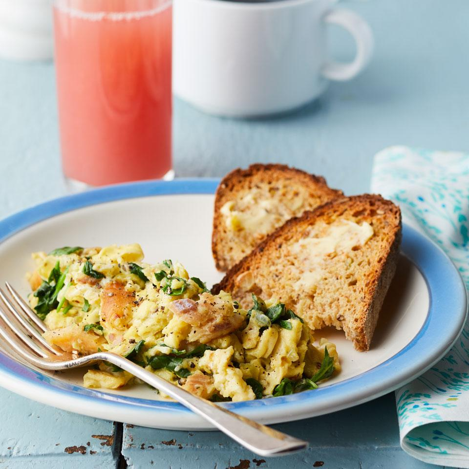 Smoked Trout & Spinach Scrambled Eggs Carolyn Casner