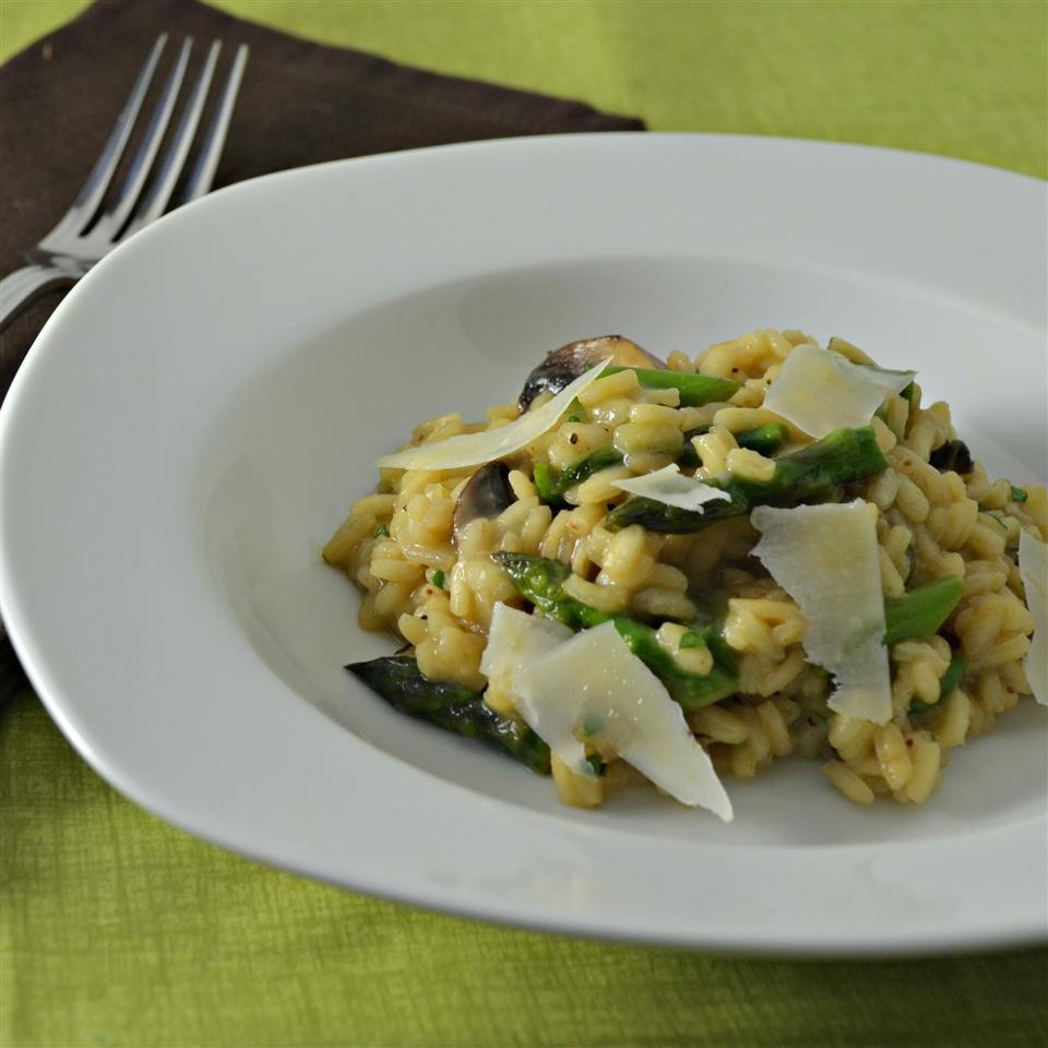 Asparagus and Morel Risotto