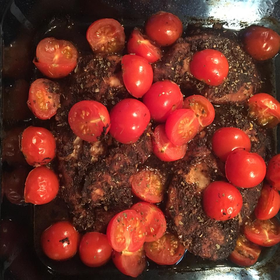 Roasted Balsamic Chicken with Baby Tomatoes JDBC