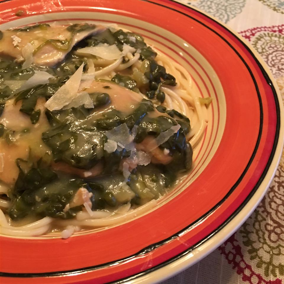 Lemon Chicken Scallopini with Spinach