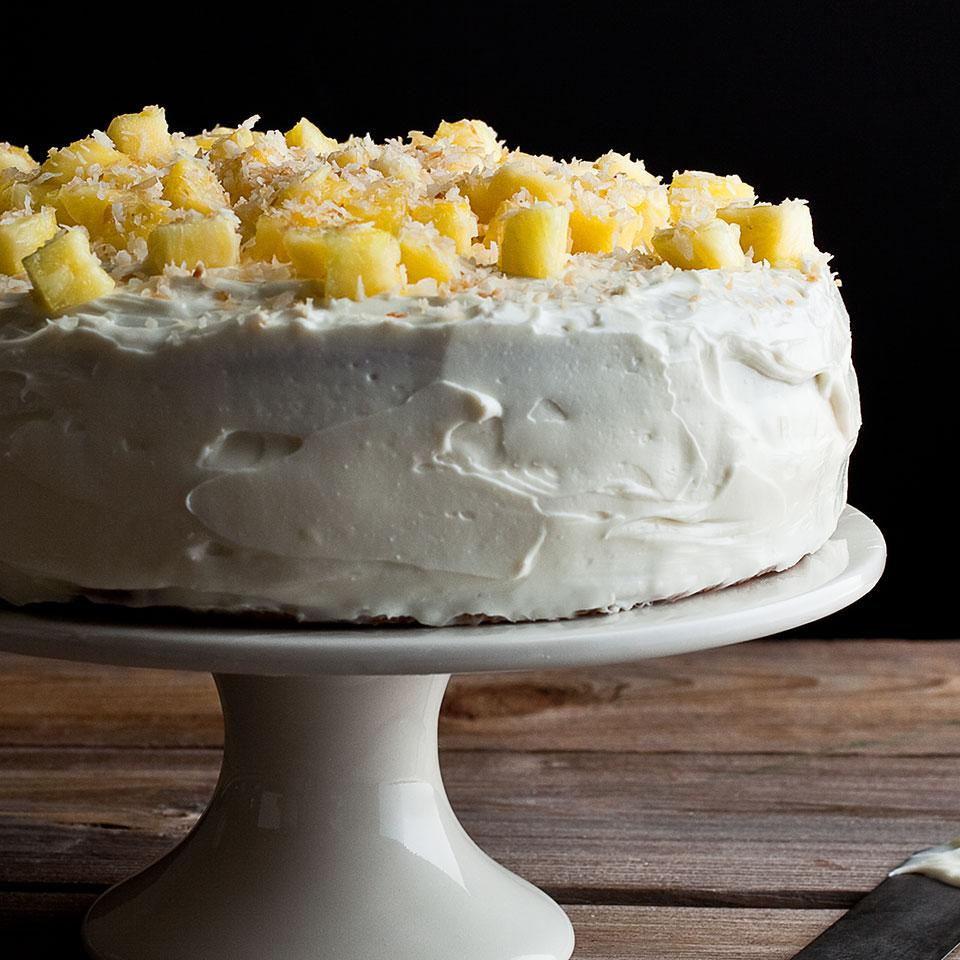 Pineapple-Coconut Layer Cake EatingWell Test Kitchen