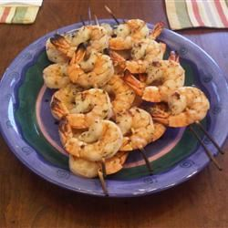 Pomegranate-Marinated Grilled Shrimp
