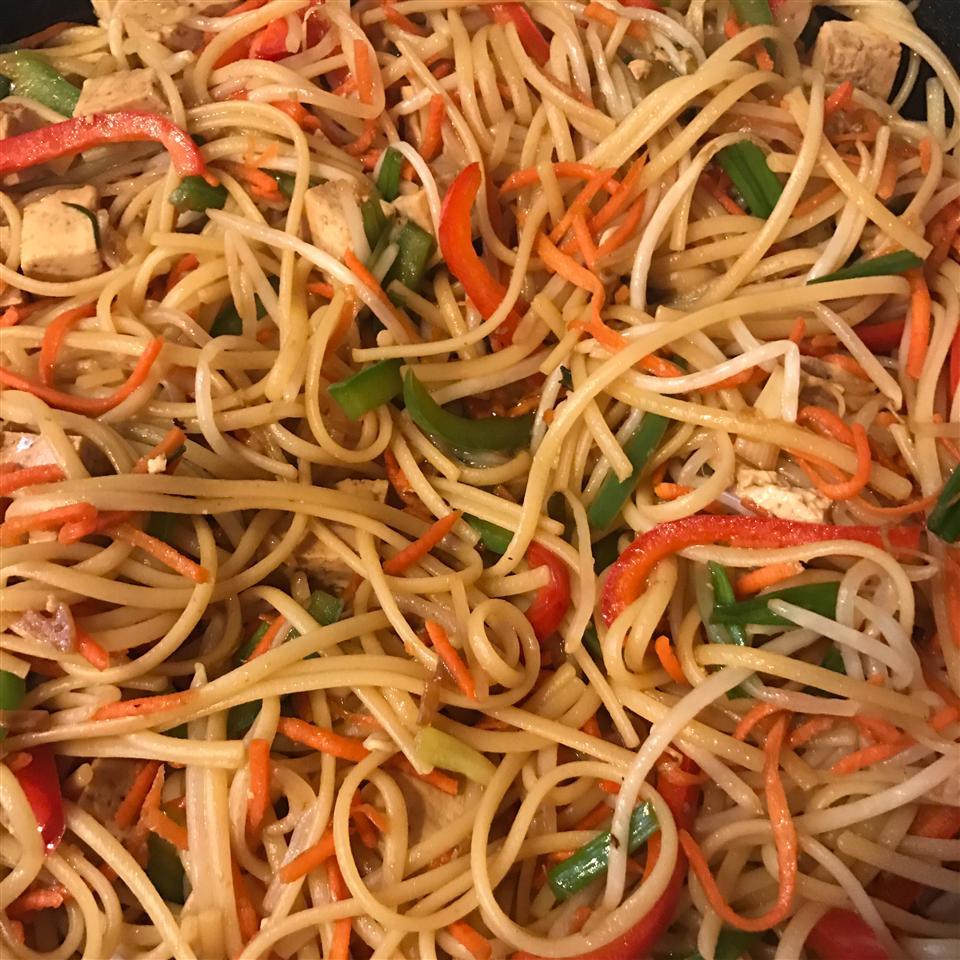 Sesame Asian Tofu Stir-Fry vi@