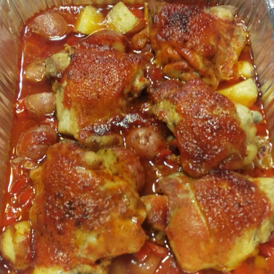 One-Pan Sriracha Chicken and Veggies Horace Swift