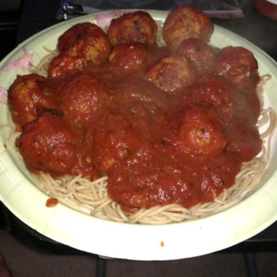 Chicken Meatballs and Spaghetti Tyson