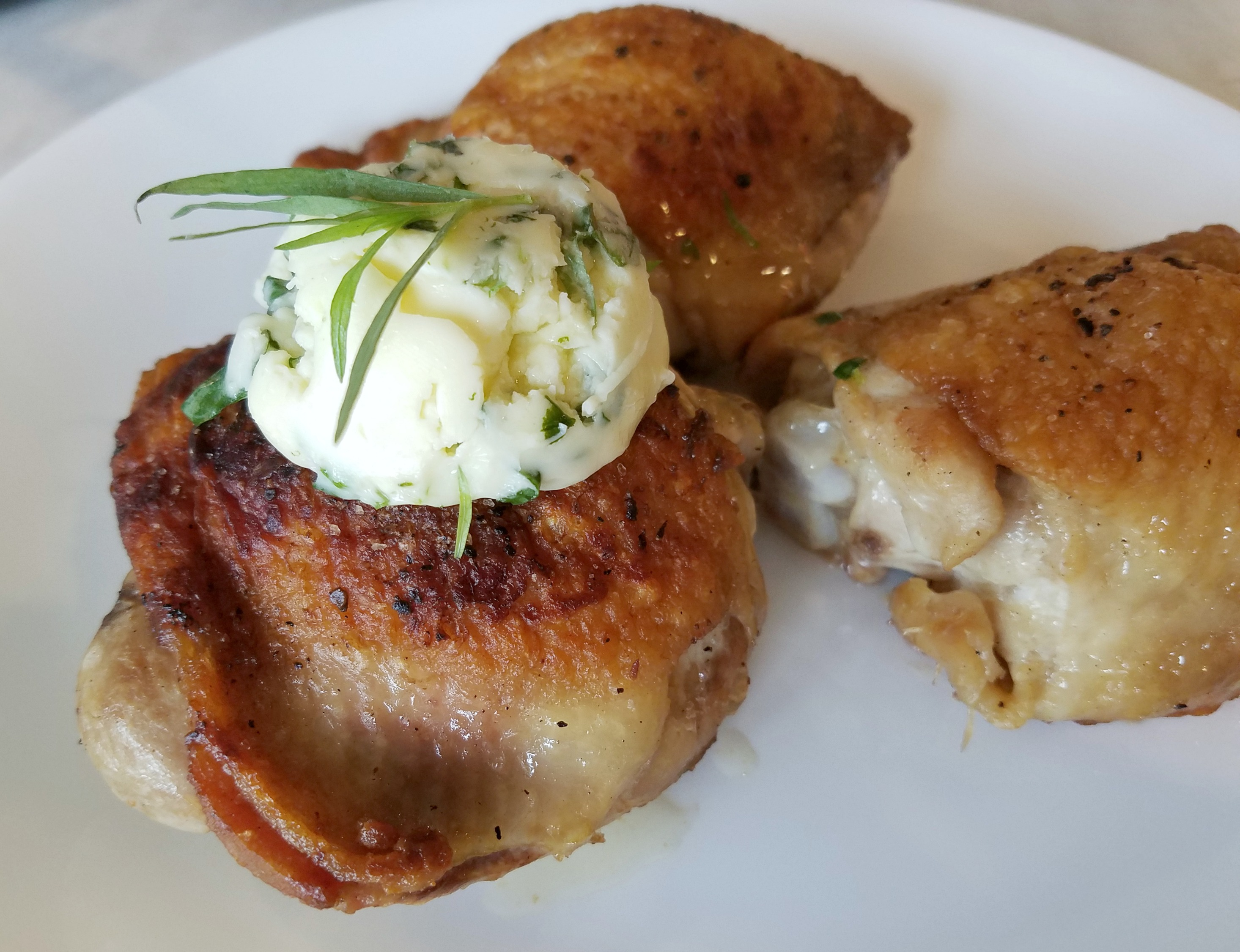 Grilled Chicken with Tarragon Butter