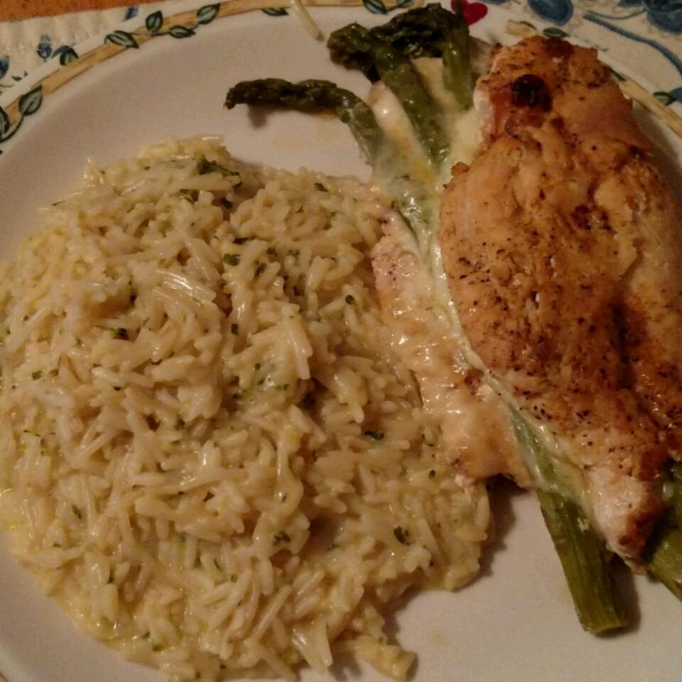 Asparagus and Mozzarella Stuffed Chicken Breasts