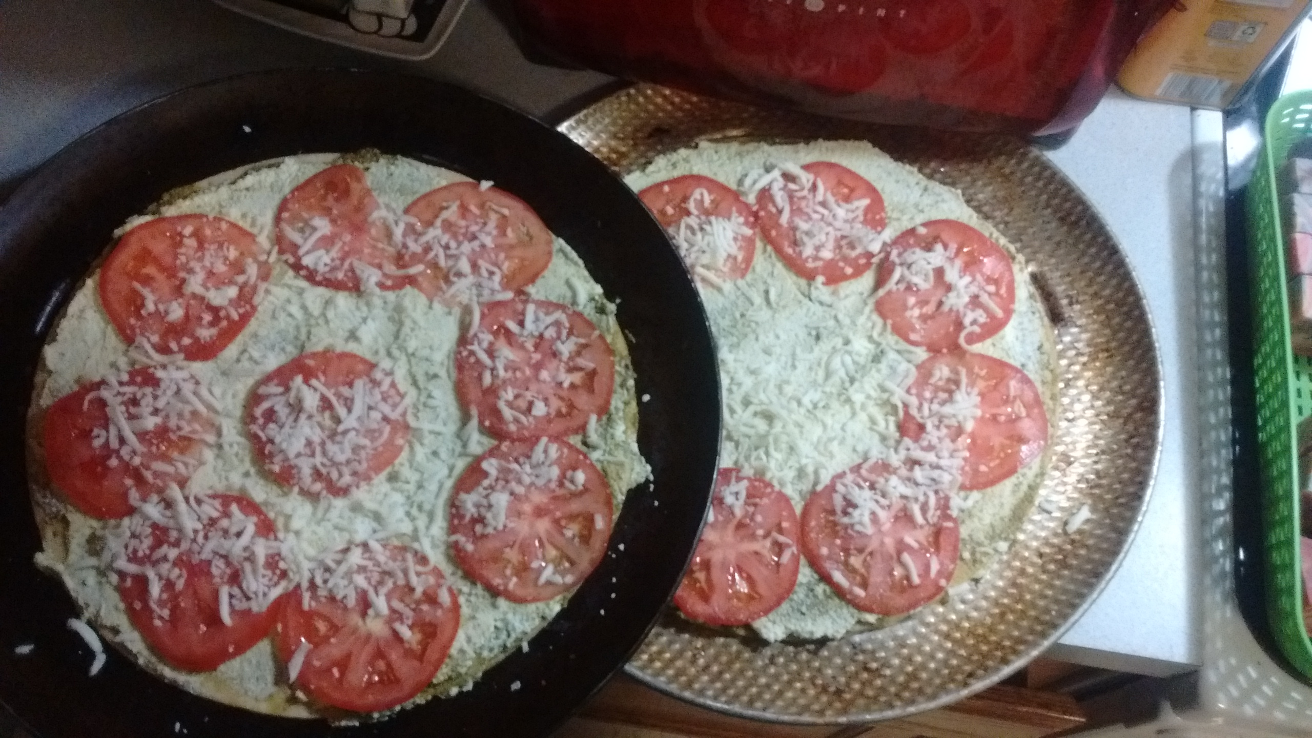 Easy Pesto Pizza