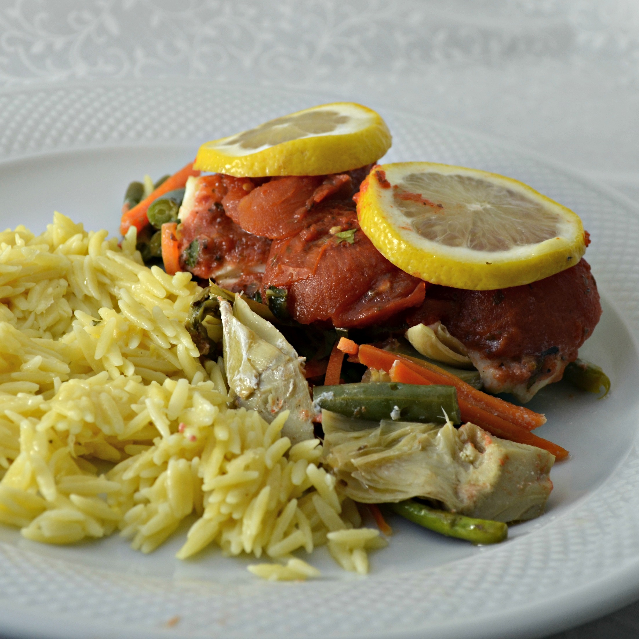 Red Lobster(R) Oven-Roasted Tilapia with Vegetables