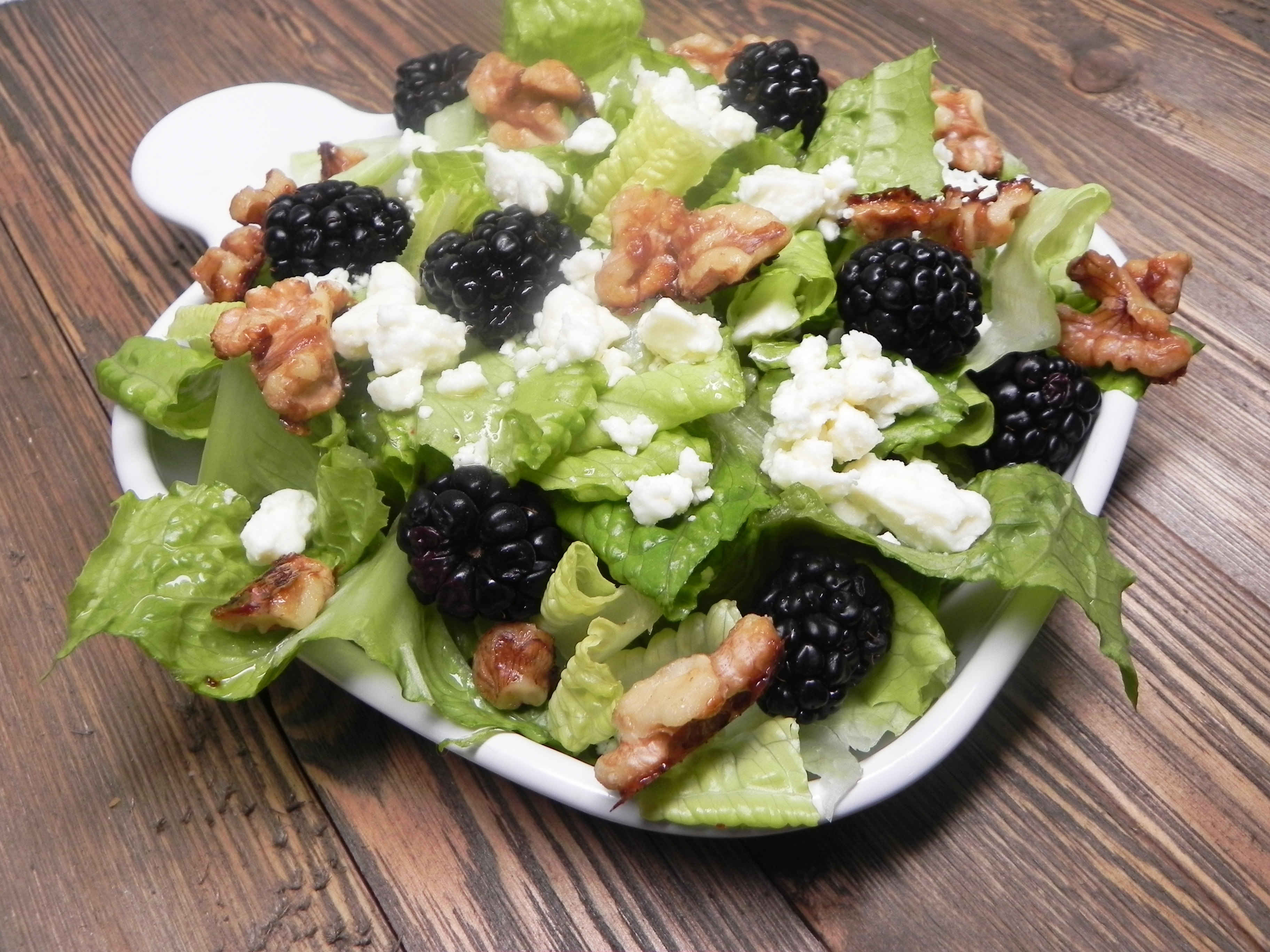 Blackberry Almond Crunch Salad