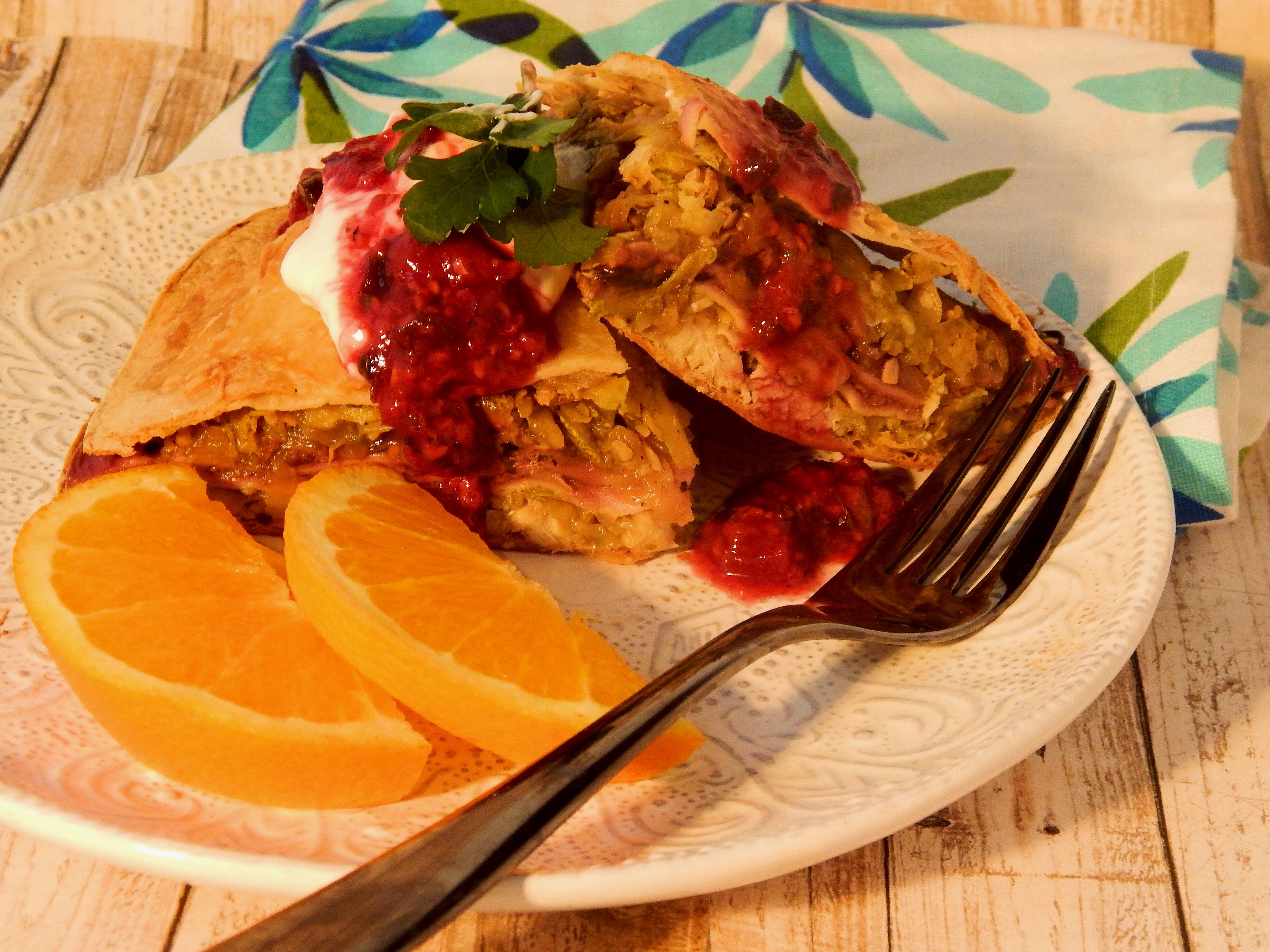 Raspberry Chicken Salsa Torte Kristin