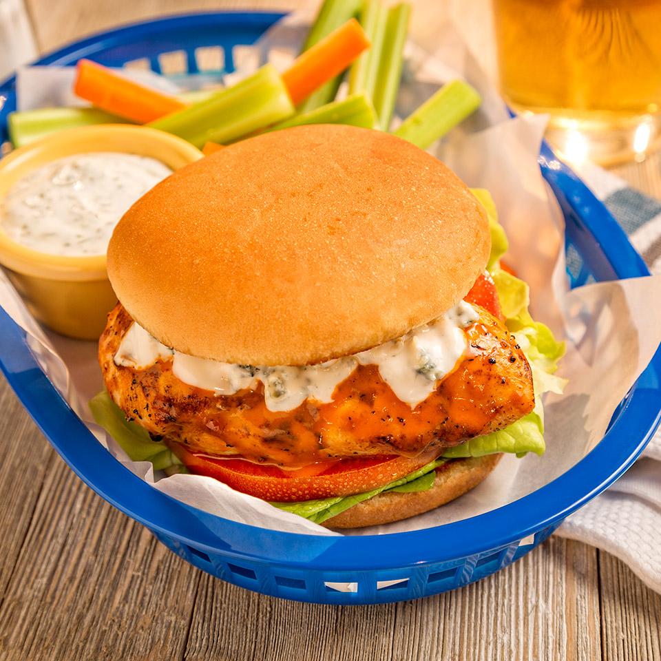 Spicy Buffalo Chicken Sandwich Ball Park Buns