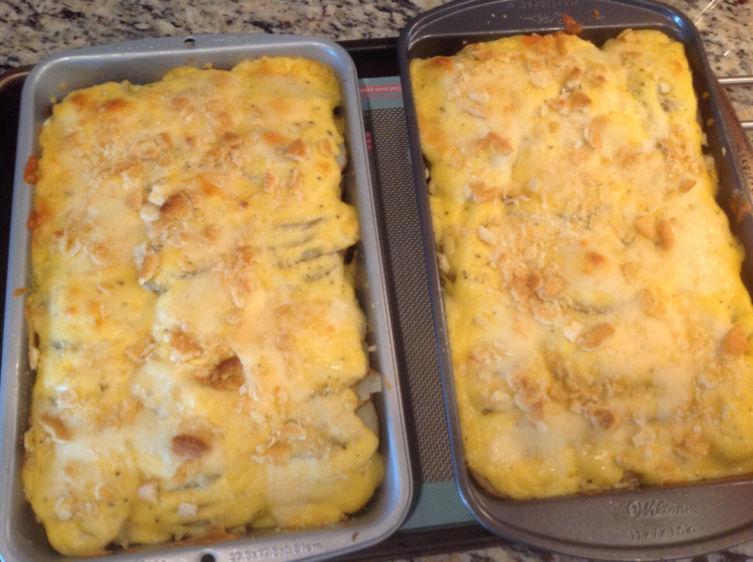 Parmesan-Crusted Au Gratin Potatoes and Onion ritakalina
