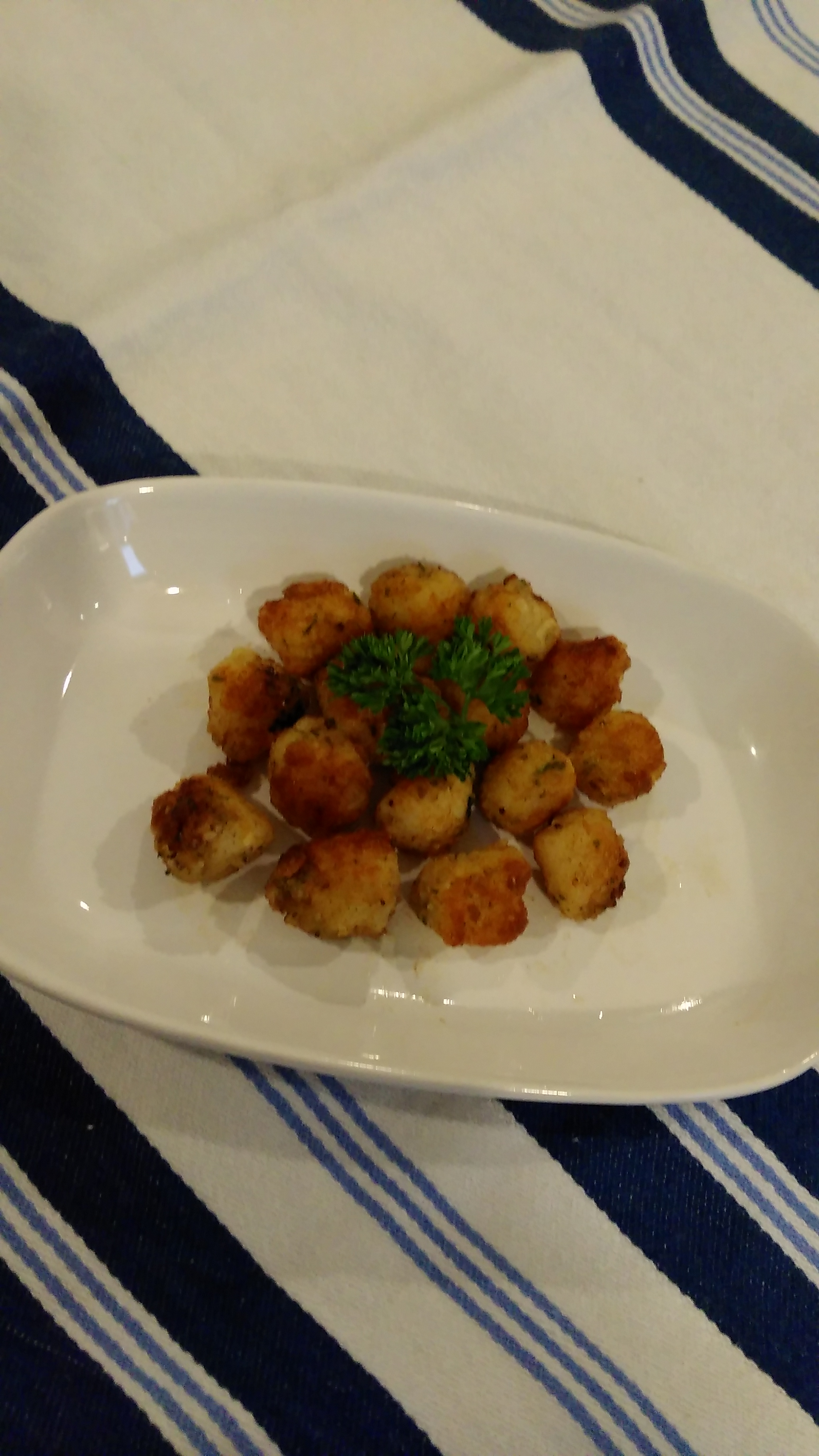 Breaded and Fried Scallops Bren