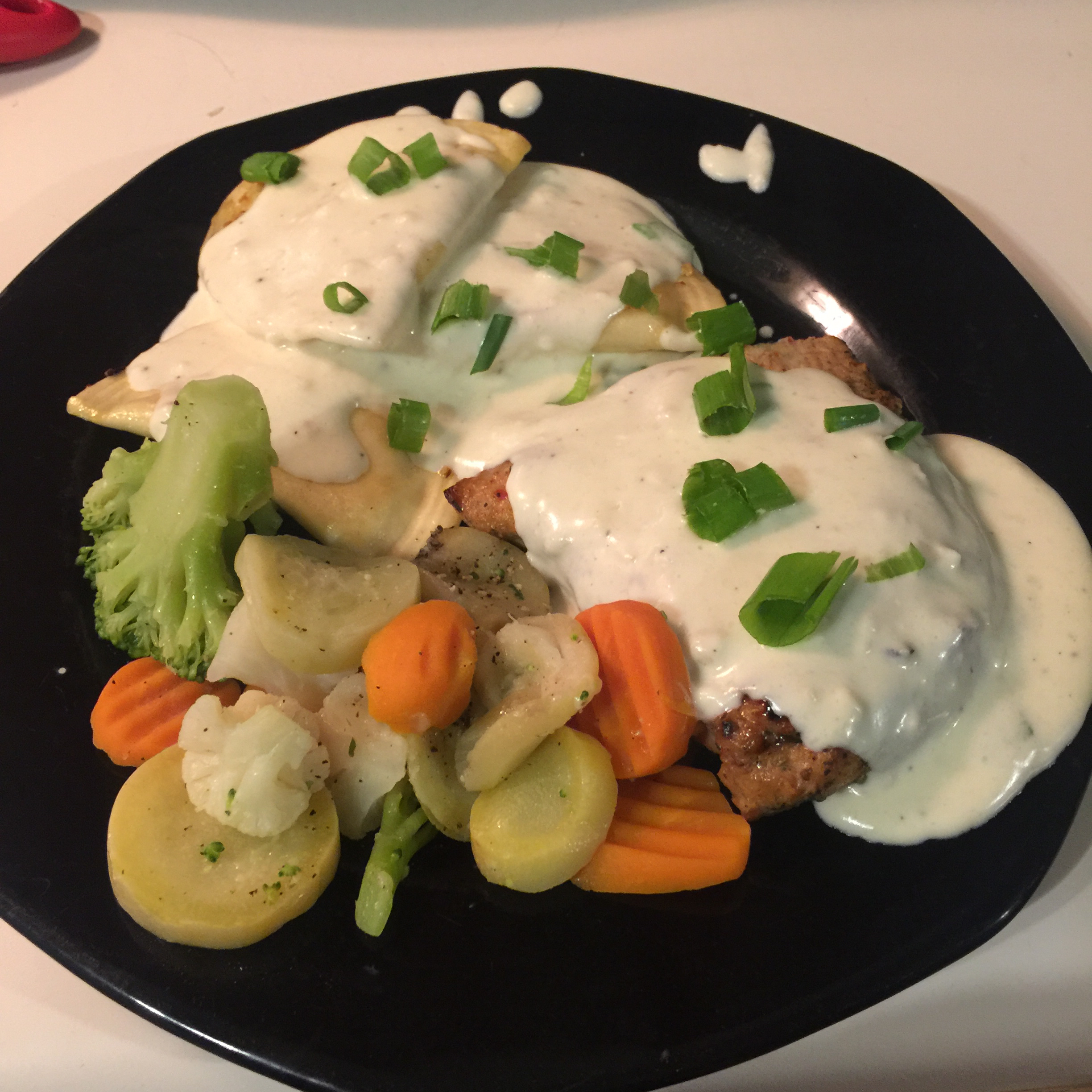 Garlic Cream Sauce over Chicken Breasts Courtney Sadie Hosier
