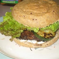 Grilled Portobello with Basil Mayonnaise Sandwich Fit&Healthy Mom