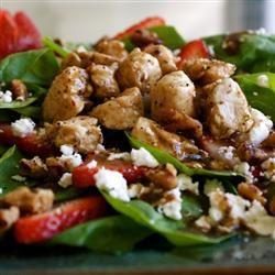 Spring Strawberry Salad with Chicken MISSKITTYBOO