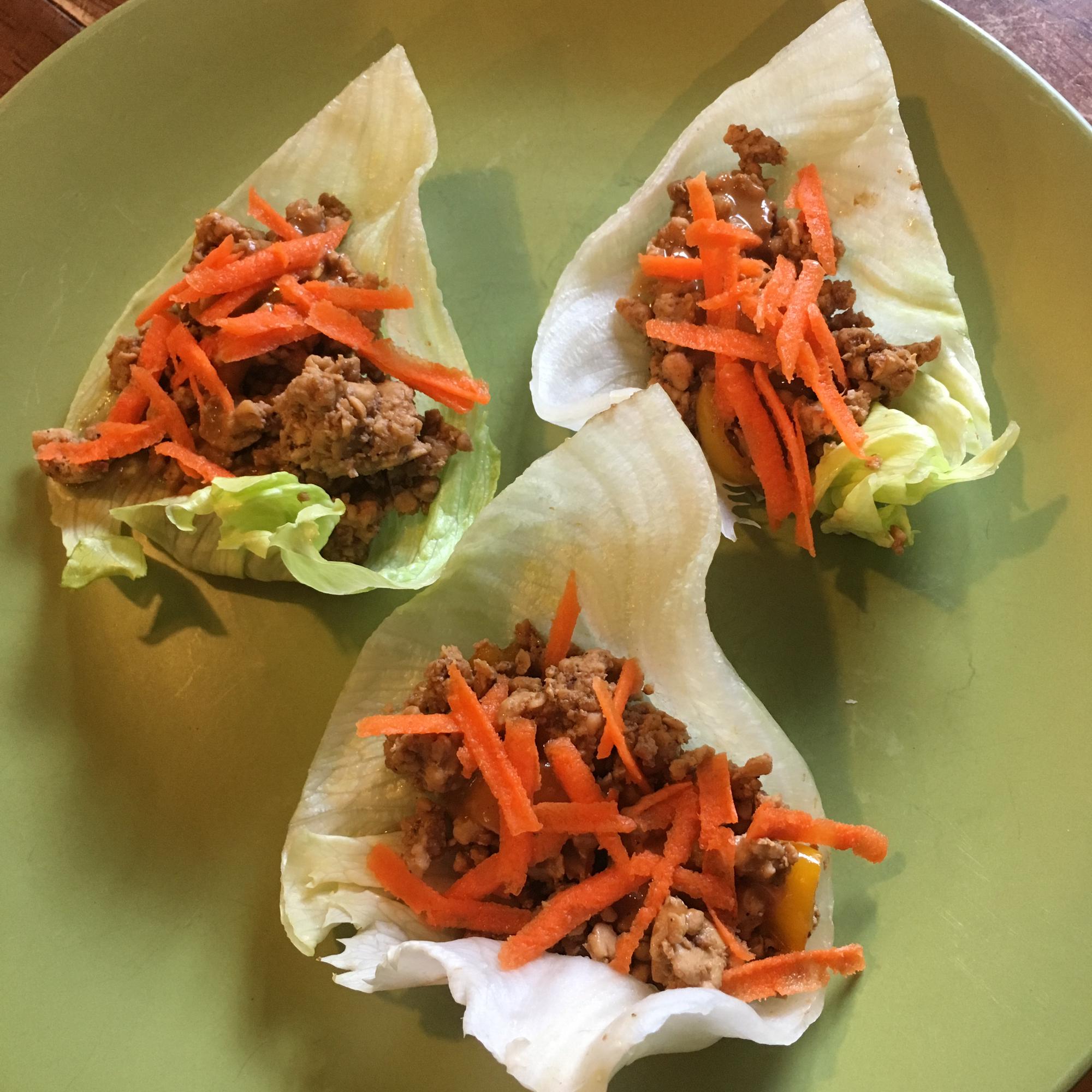 Chicken Lettuce Wraps tierncooks
