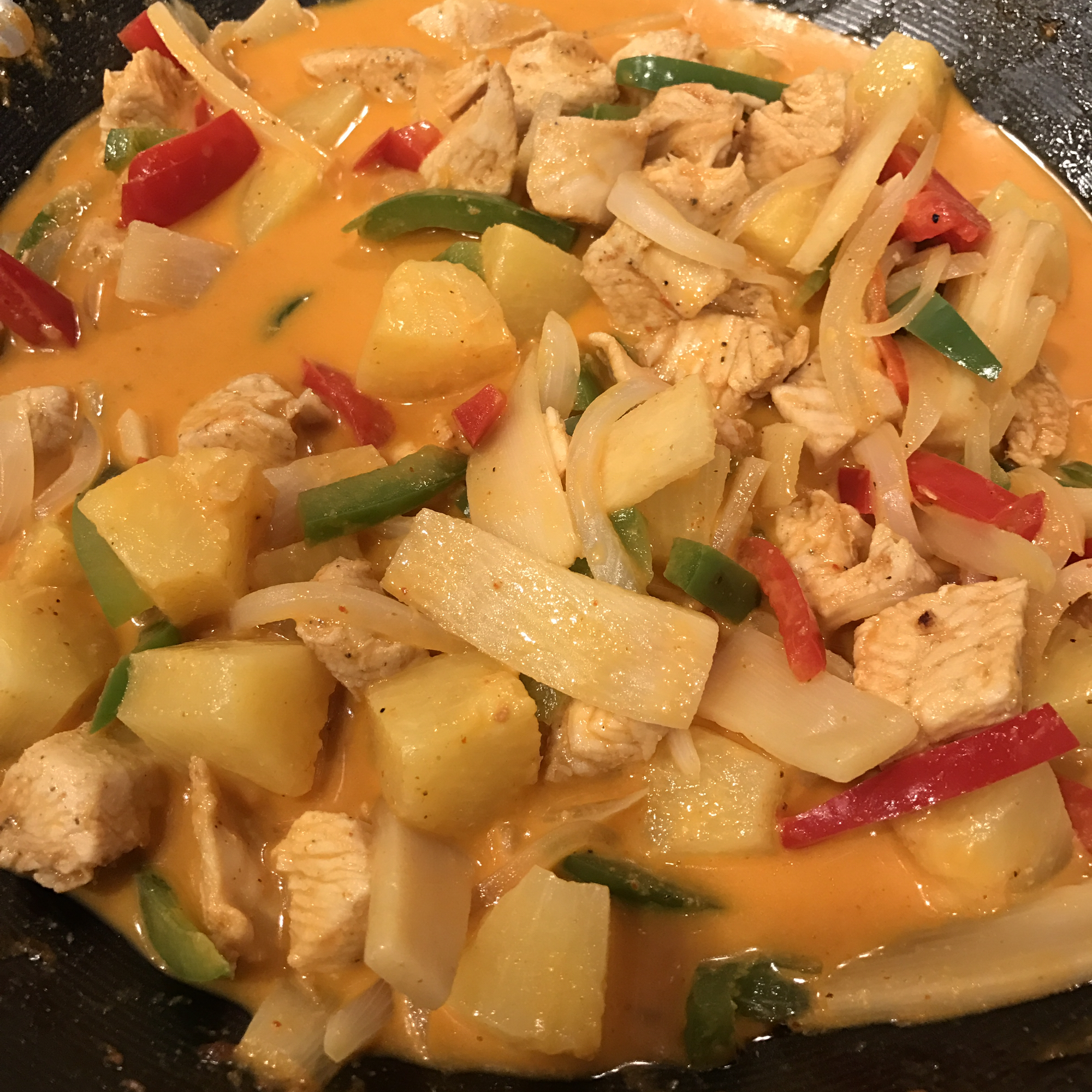 Thai Pineapple Chicken Curry shutson