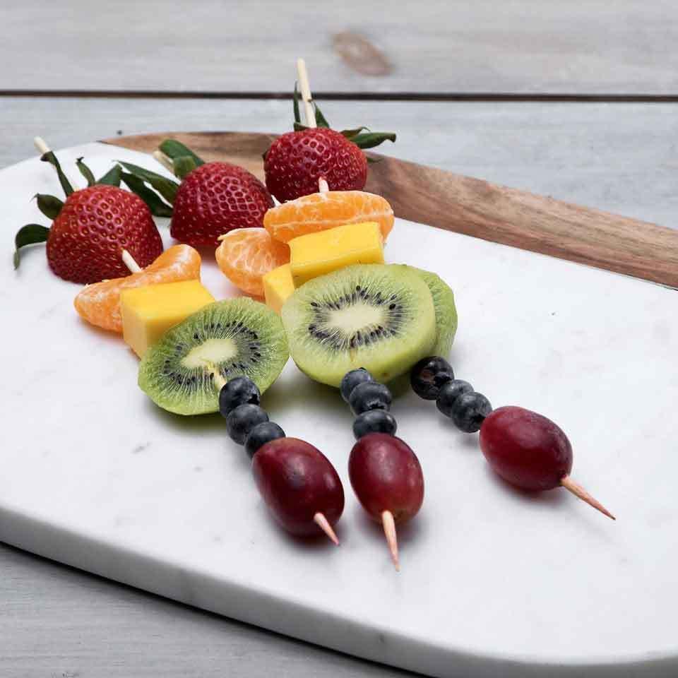 Rainbow Fruit Kebabs EatingWell Test Kitchen