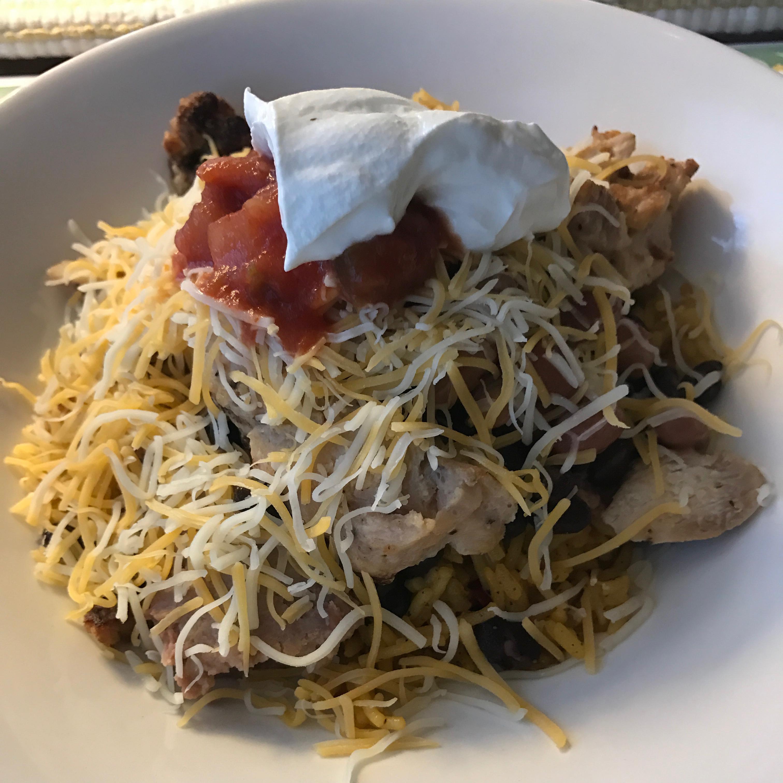 One Skillet Chicken Burrito Bowls Recipe Allrecipes Com