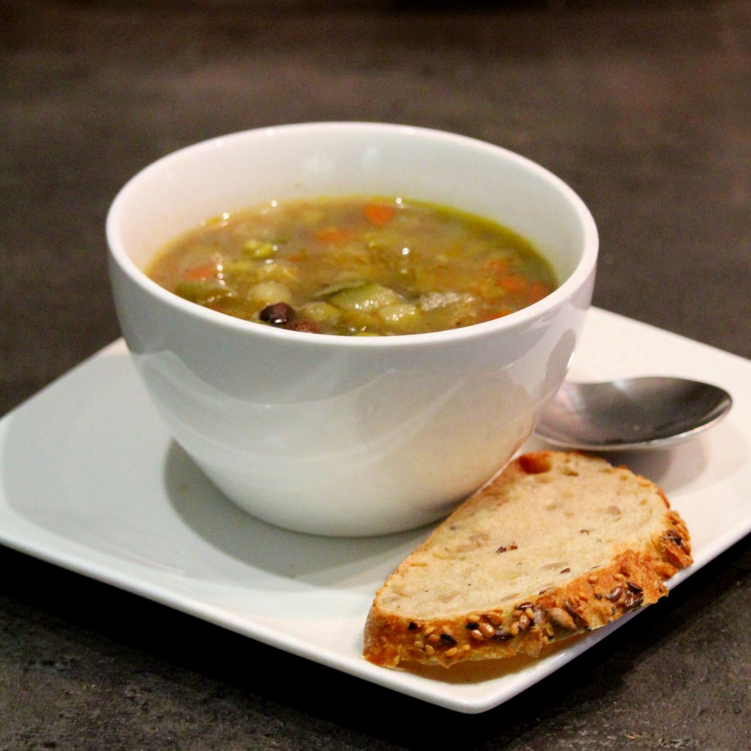 Spicy Black Bean and Quinoa Soup
