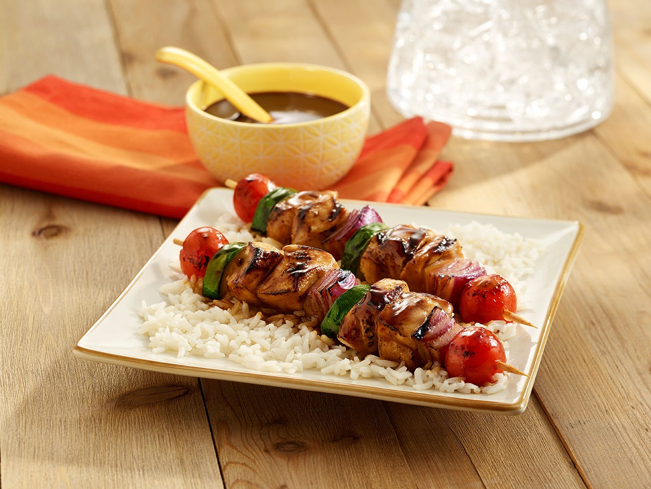 Grilled Chicken Kabobs image