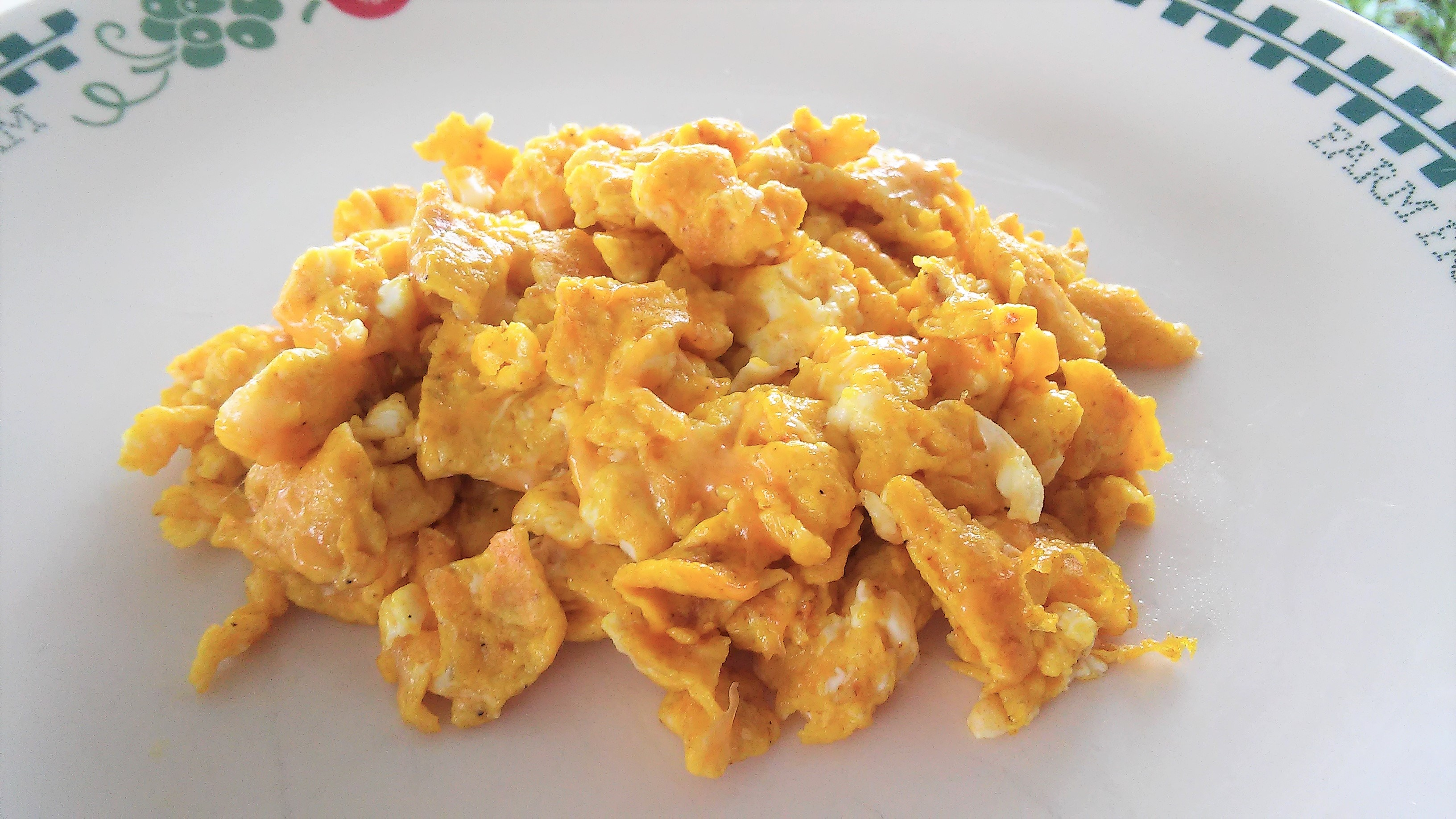 Curry Cheddar Scrambled Eggs Dave Baker