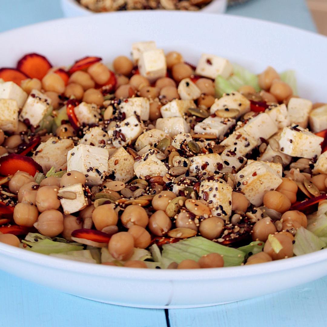 Spicy Tofu Salad Bowl Buckwheat Queen