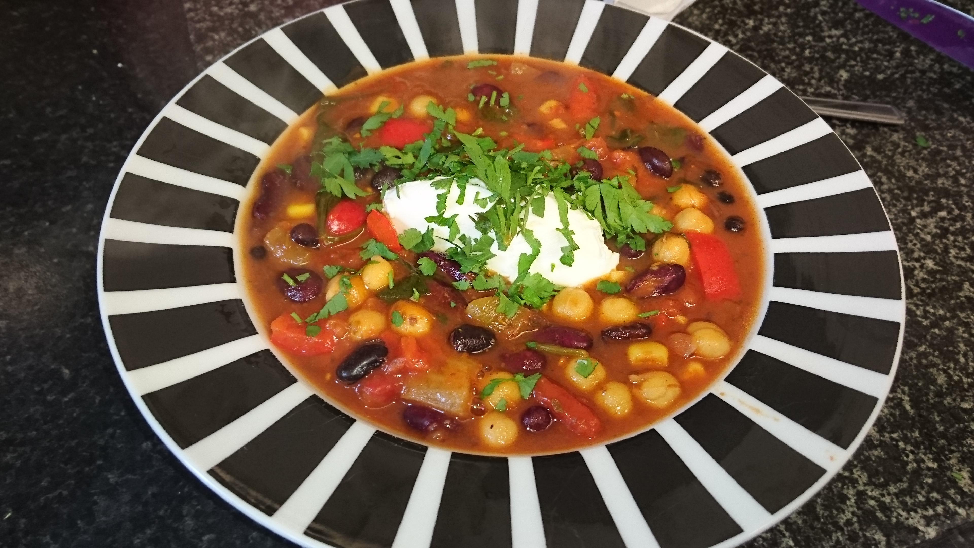 Three Bean Vegetarian Chili Allrecipes