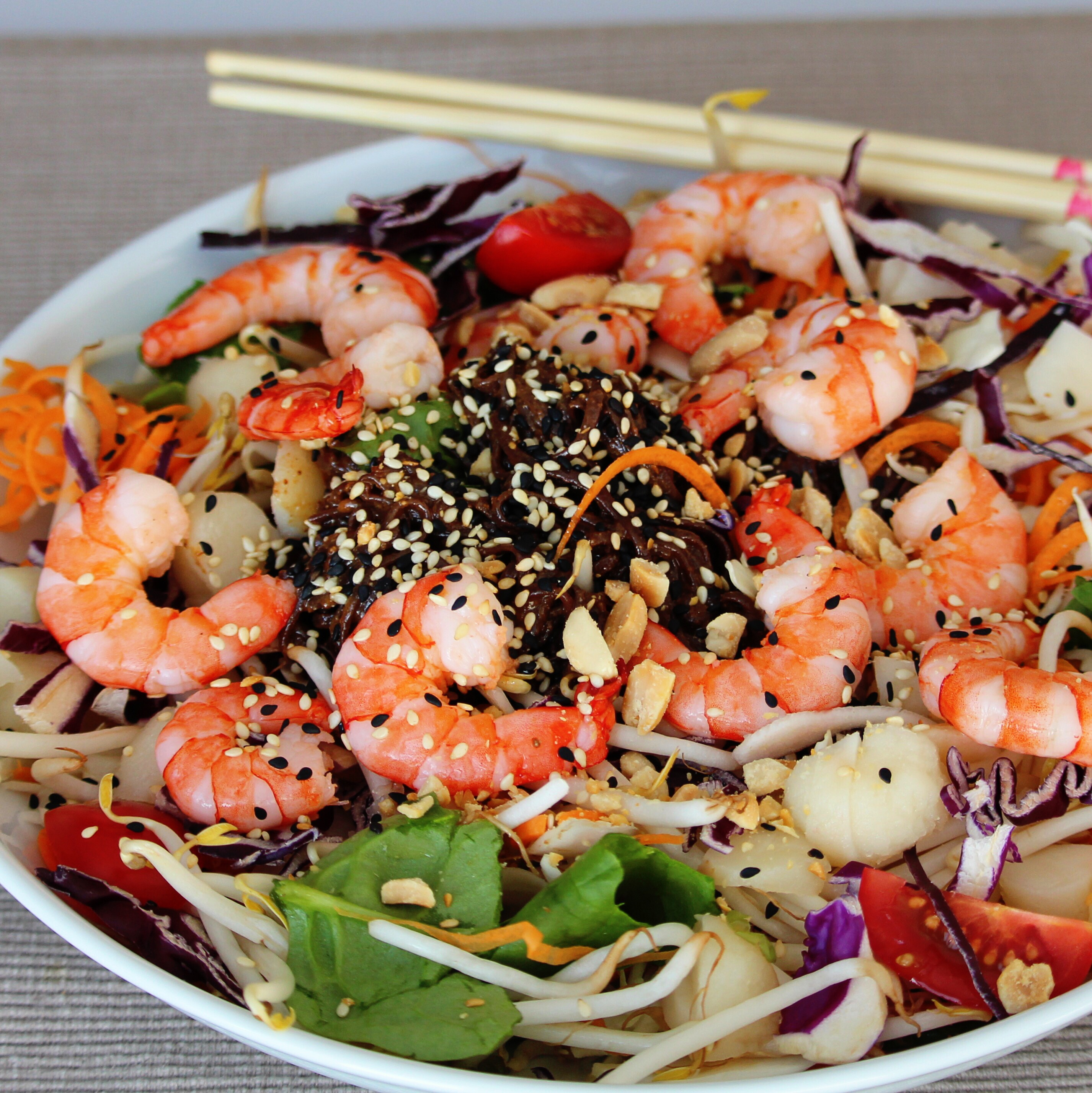 Shrimp and Soba Noodle Salad