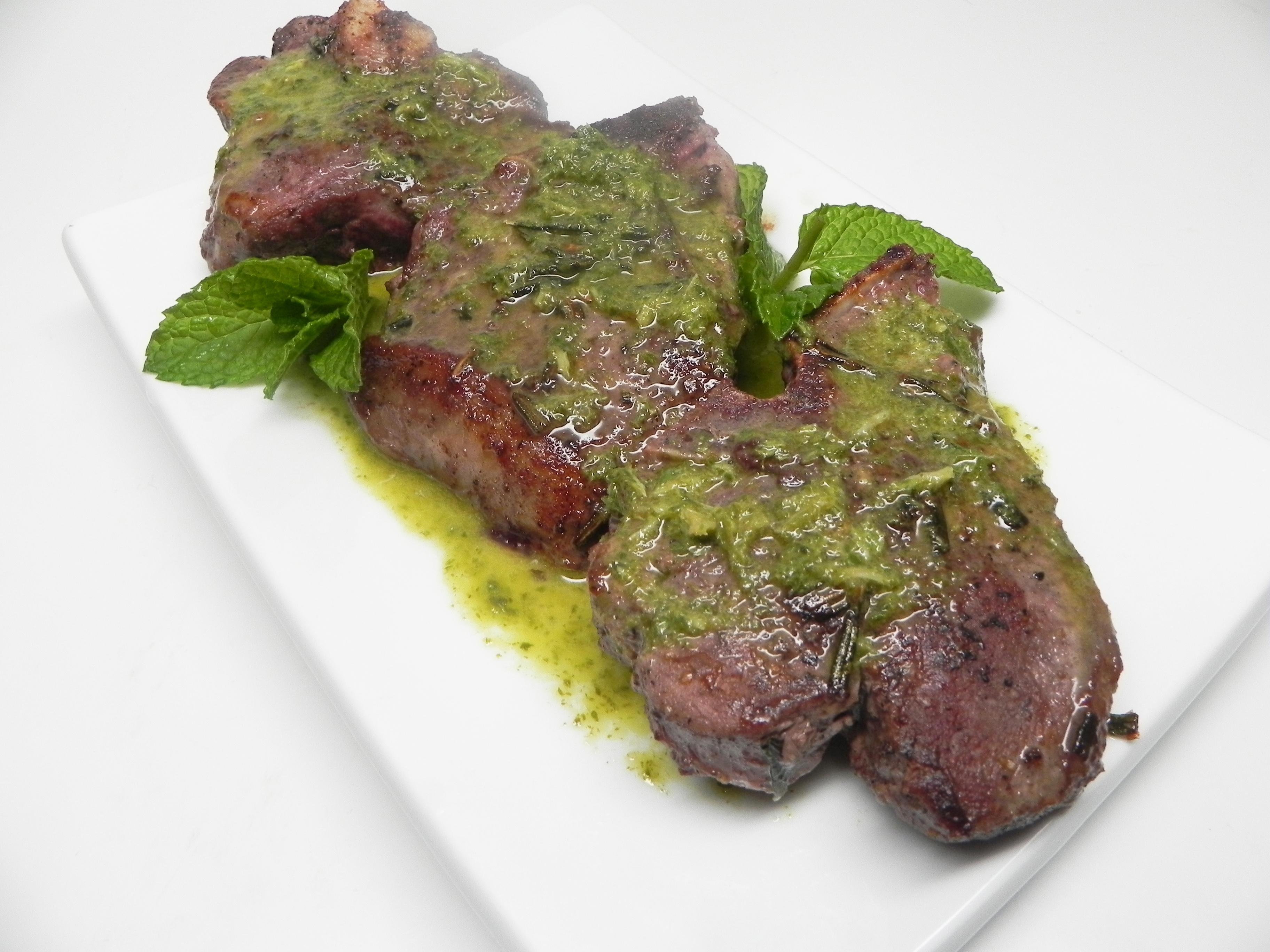 Lamb Chops with Mint Oil