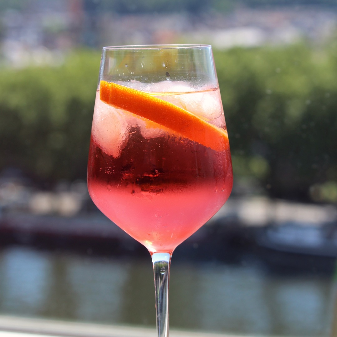 """Similar to Campari but even lower in alcohol, Aperol is an Italian aperitif that's also a smidge less bitter, making it a terrific drink for turkey day. """"This is such a refreshing drink,"""" says sonjagroset. """"Aperol isn't available everywhere, but is worth seeking out. It's a little bitter, but combined with the sweetness of the Prosecco, it makes the perfect, thirst-quenching cocktail."""""""