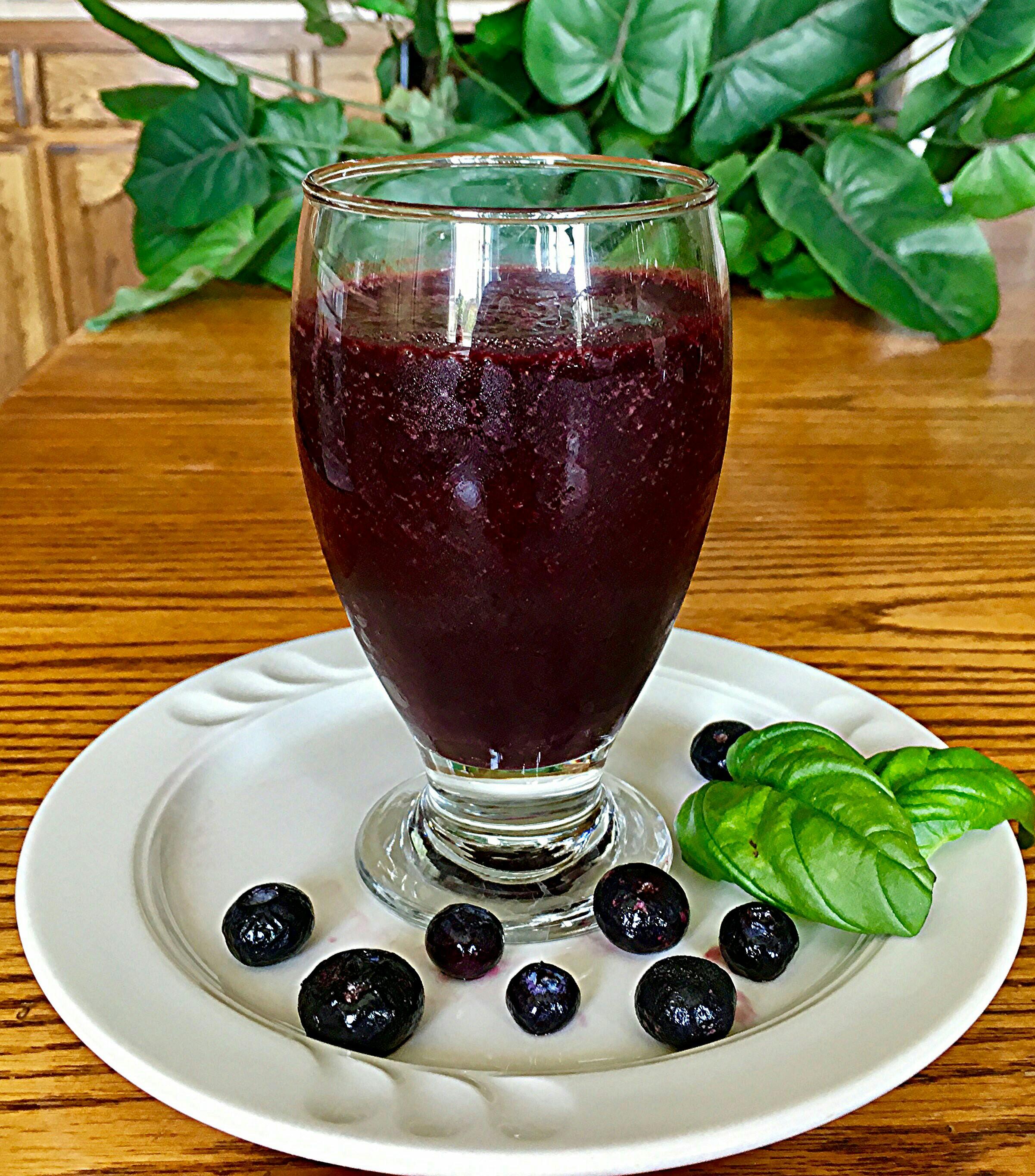 Vegan Blueberry Basil Smoothie