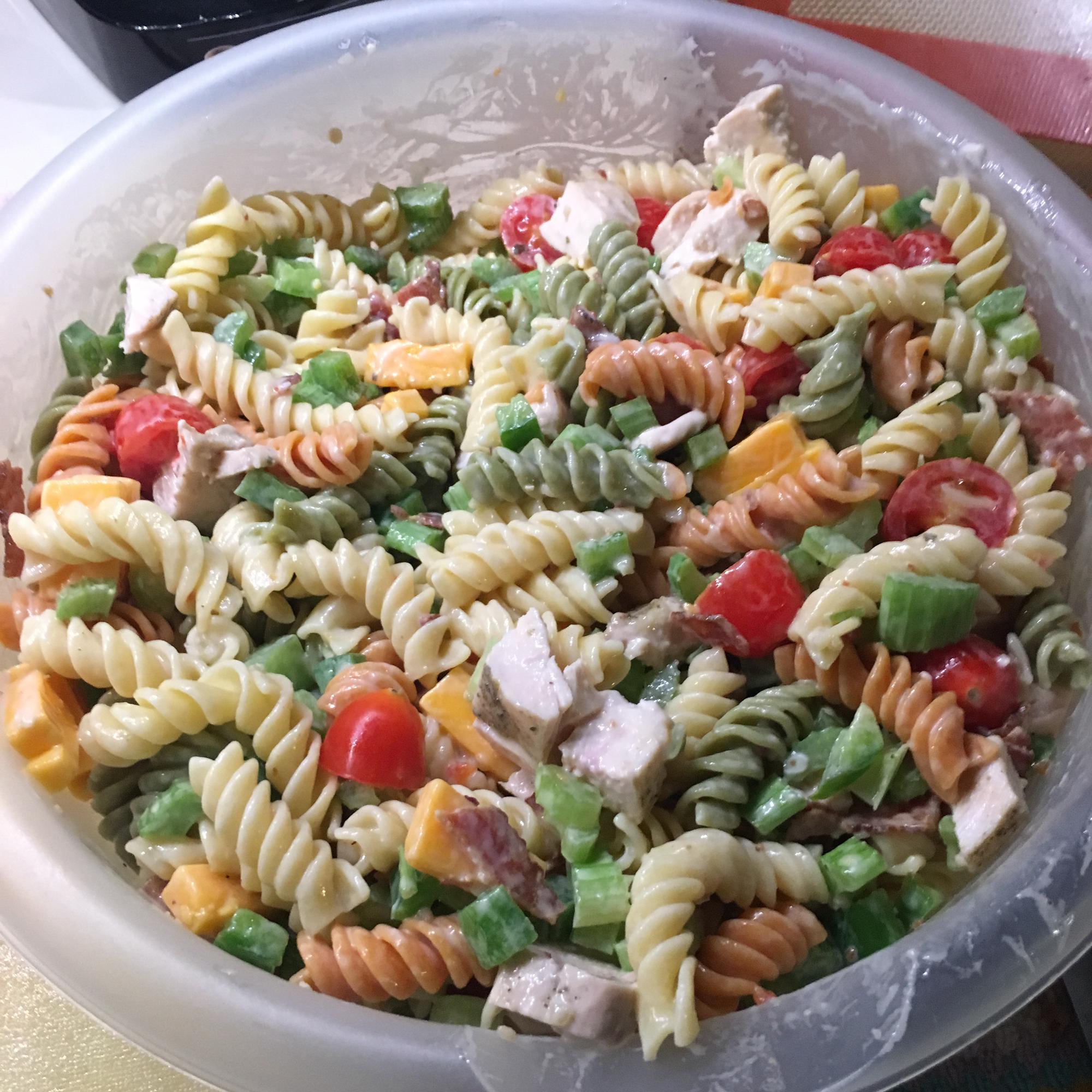 Chicken Club Pasta Salad Barkley Cordell Sury