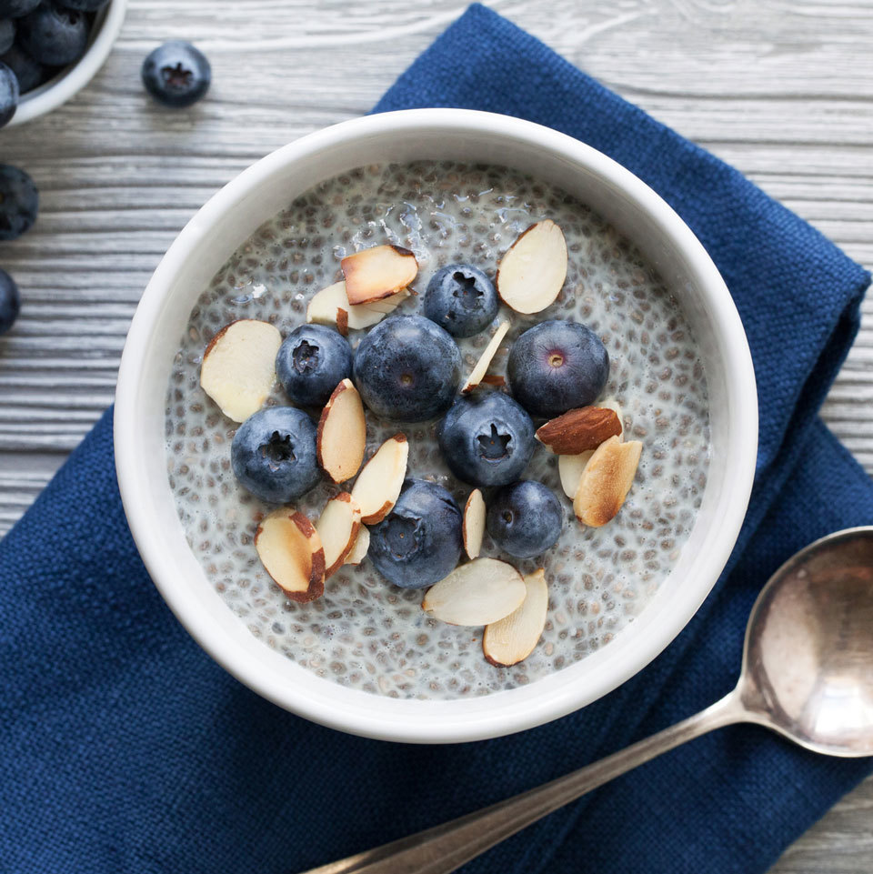 Blueberry Almond Chia Pudding Carolyn Casner
