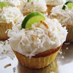 Key Lime-Coconut Cupcakes
