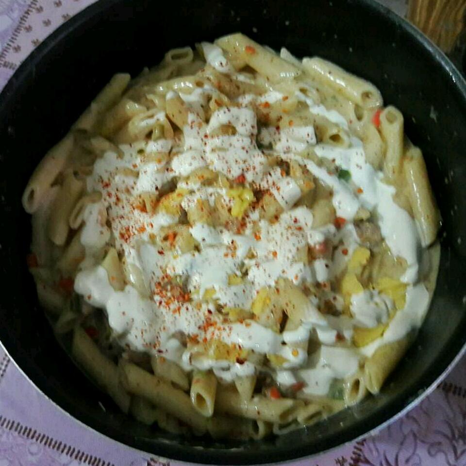 Cheesy Chicken Pepper Pasta