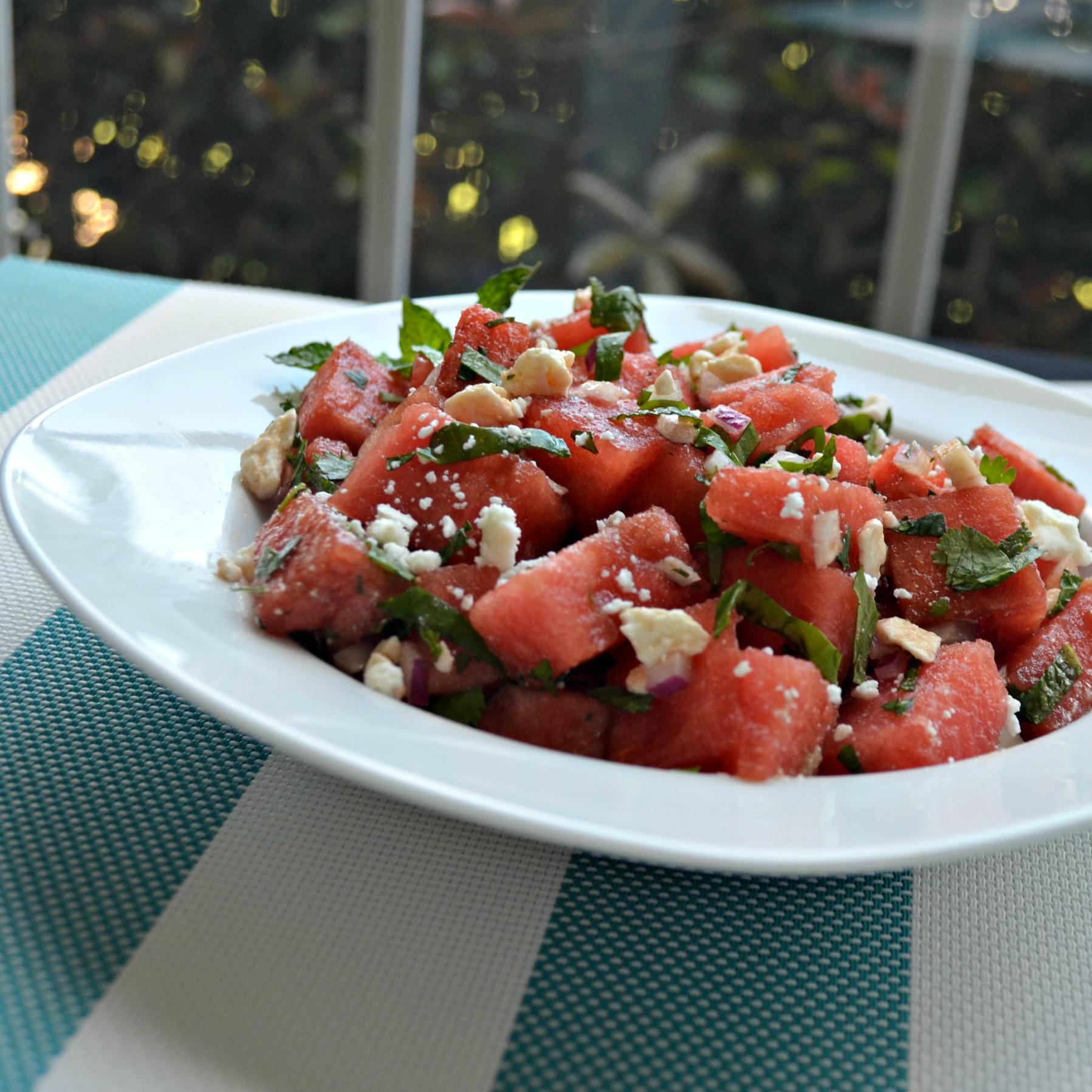 Herb Watermelon Feta Salad image