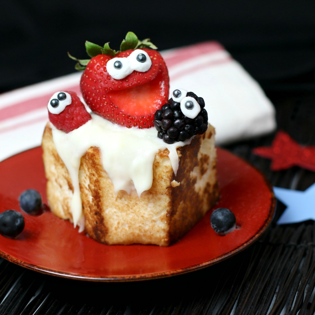 Toasted Angel Food Cake with Strawberries