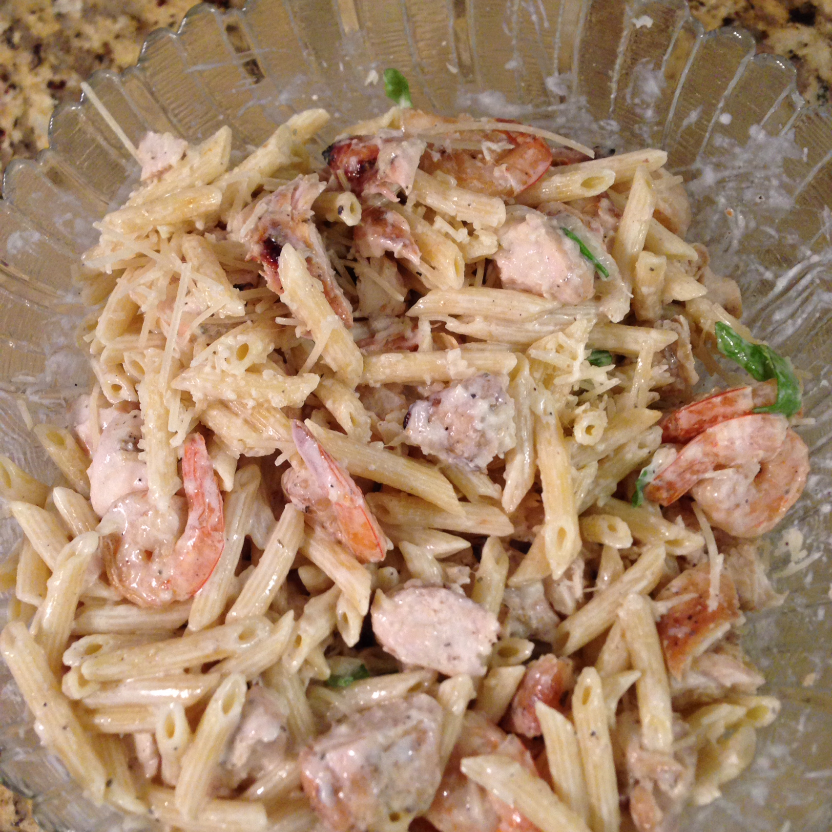 Grilled Shrimp and Chicken Pasta Cammie