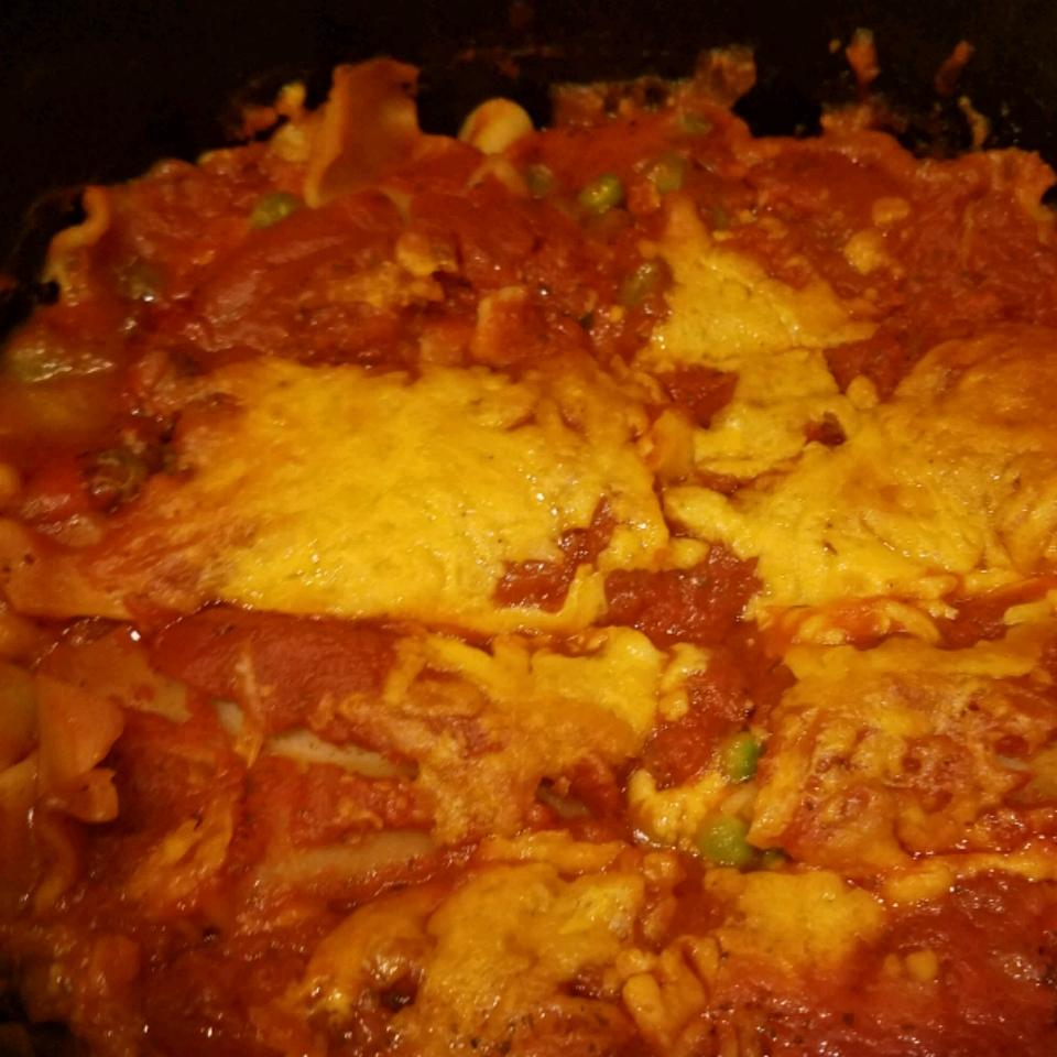 Easy Dutch Oven Cheese Lasagna