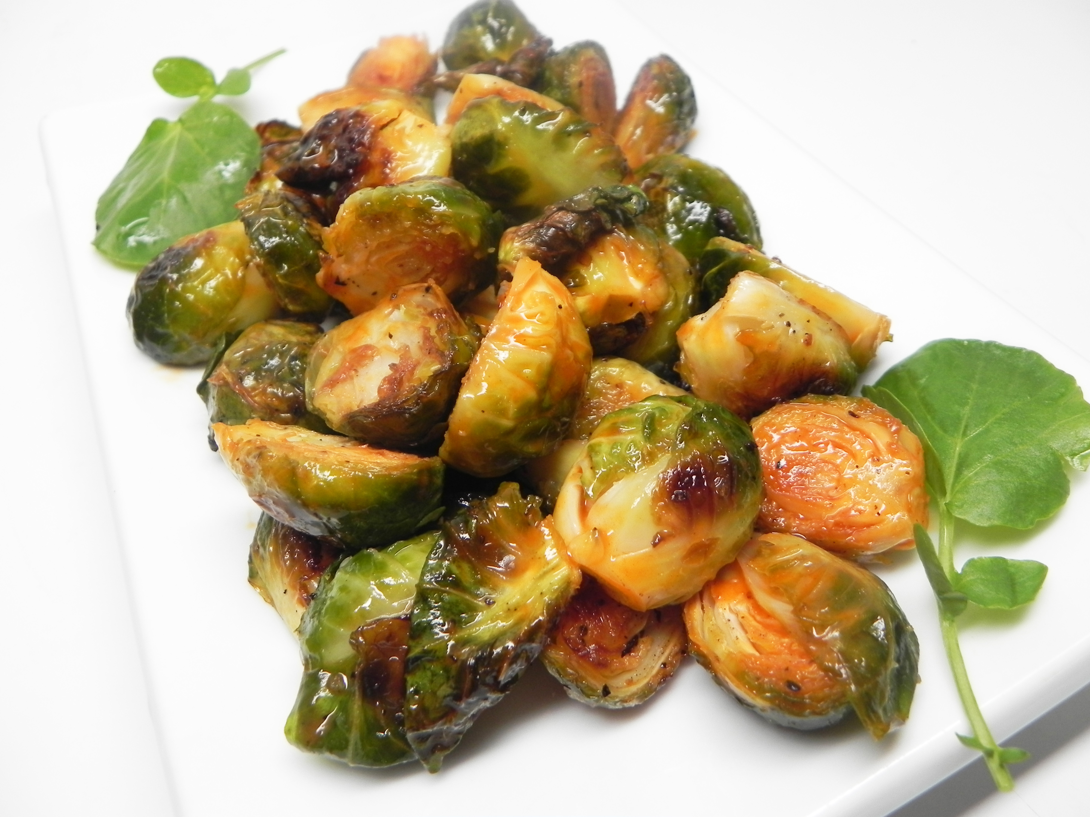 Roasted Buffalo Brussels Sprouts MDMONS
