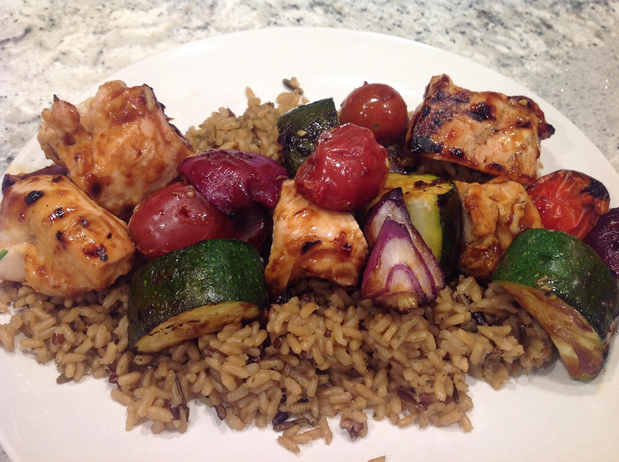 Grilled Chicken Kabobs Diana Mc