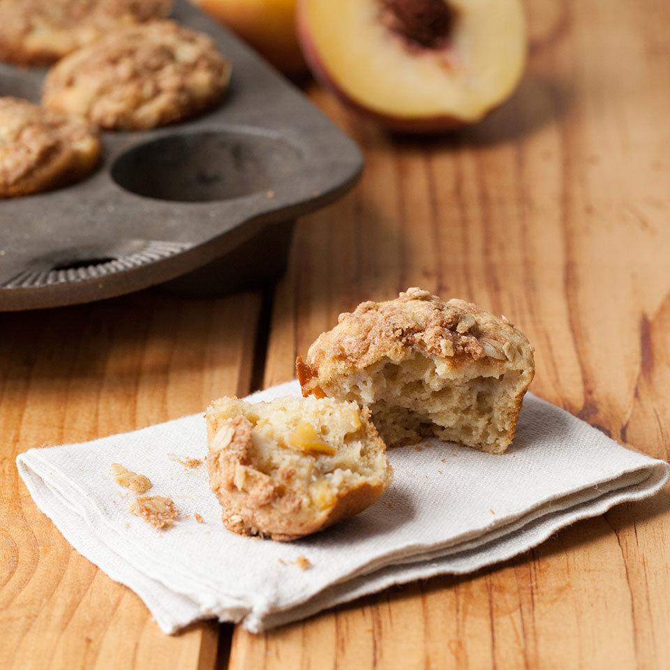 Peach Crumble Muffins Devon O'Brien