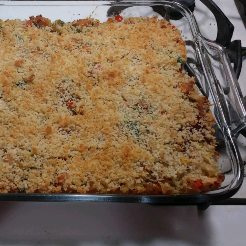 Chicken and Pasta Casserole with Mixed Vegetables