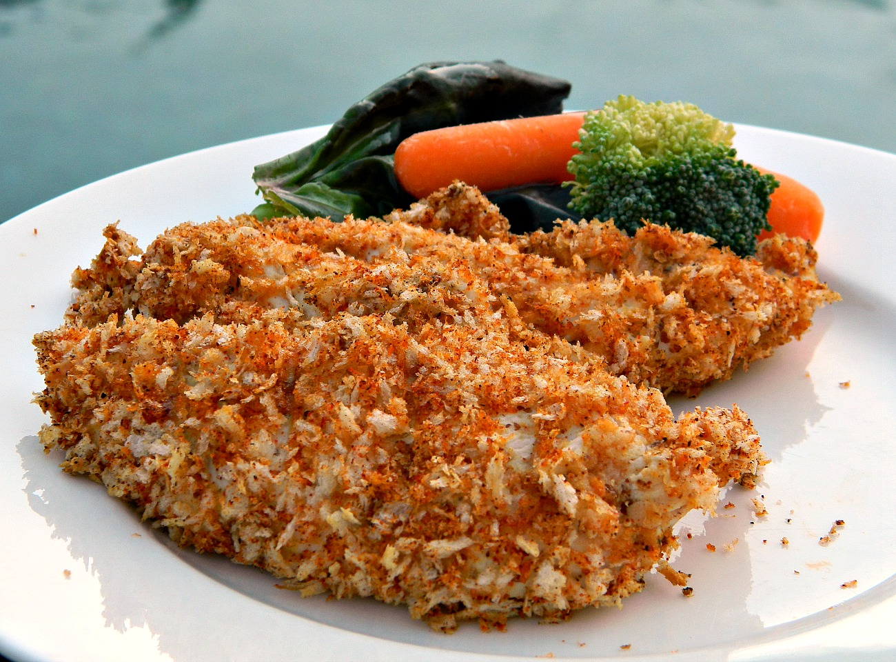 Baked Chicken Strips with Dijon and Panko Coating