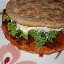 Buffalo Chicken Burgers with Blue Cheese Dressing Marisa R.